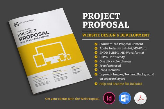 Proposal Bundle Template by fahmie on Creative Market Graphic - what is in a design proposal