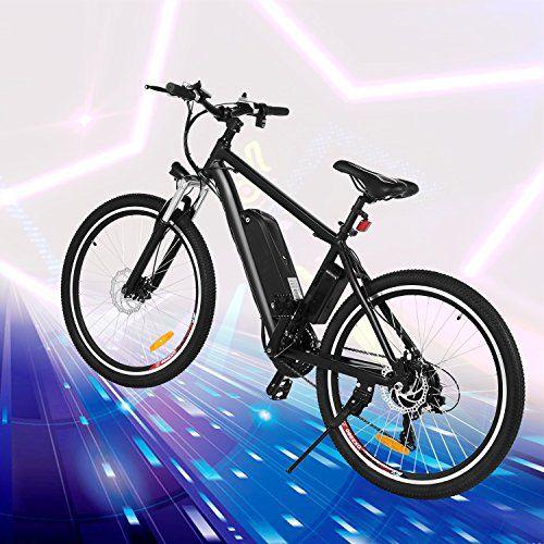 Anfan Electric Mountain Bike 250w 26 21 Speed Lithium Battery