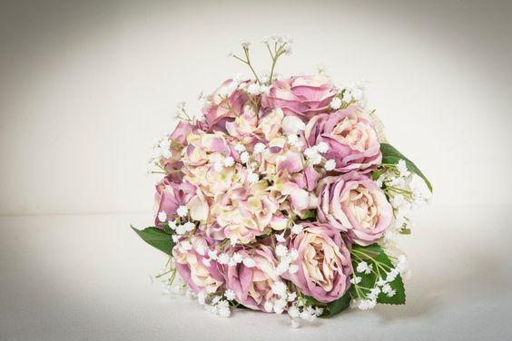 bouquet sposa peonie rosa e ortensia