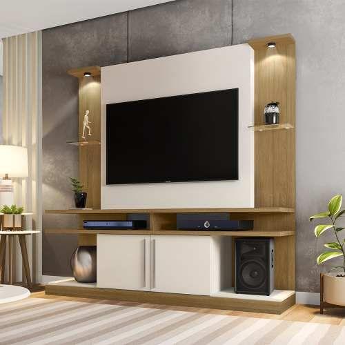 Painel Home Suspenso Para Tv Ate 60 Polegadas Livin Hbmoveis R 733 00 Em Mercado Livre House Design Home Cool House Designs