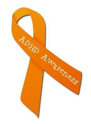 The orange ribbon means adhd awareness and Oct is adhd awareness month. And I've ADHD