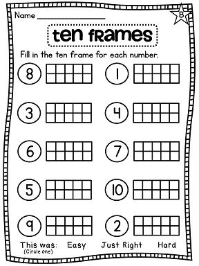 Printables Ten Frame Worksheet first grade math unit 1 number sense counting forward ten frame differentiated worksheets absolutely everything you need for frames at this link