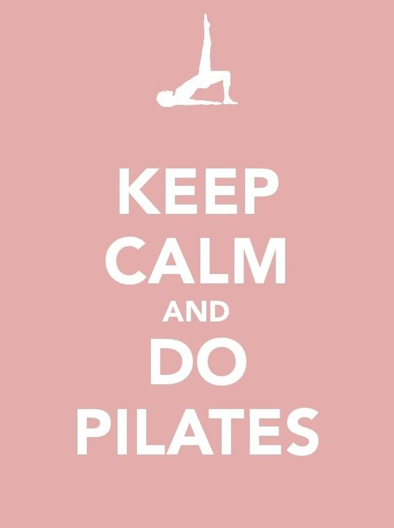 Keep calm & do Pilates...which is exactly what I did today after I accidentally deleted my 900+ songs from my laptop...and my iPod.