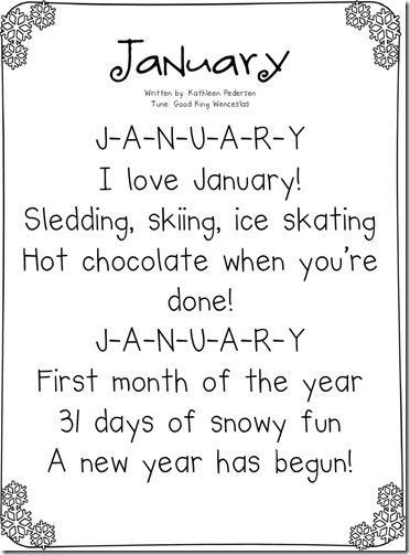 Calendar Songs for All 12 Months