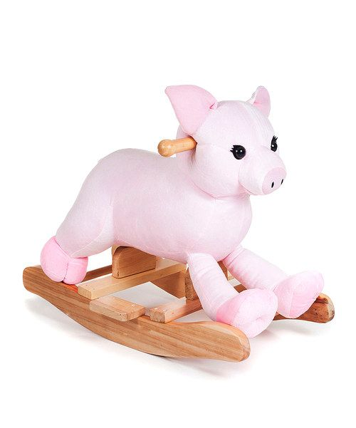 Look at this Happy Trails Hamlet Pig Plush Rocker on #zulily today!