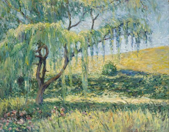 Tablouri blanche hoschede monet - the willow, the roses and the waterlilies at giverny | Tablouri celebre | tablouri canvas online