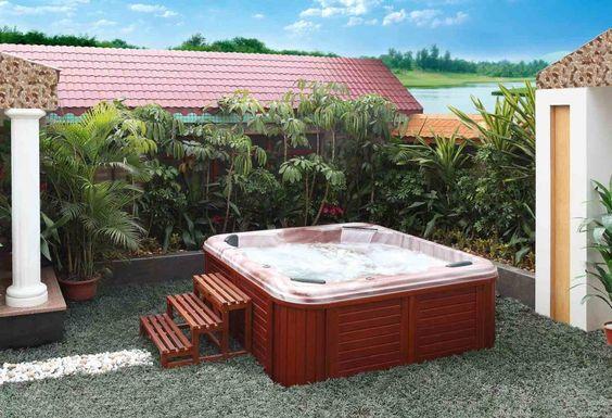 terraza pequeña con jacuzzi cactus Pinterest Spa, Jacuzzi - whirlpool sichtschutz