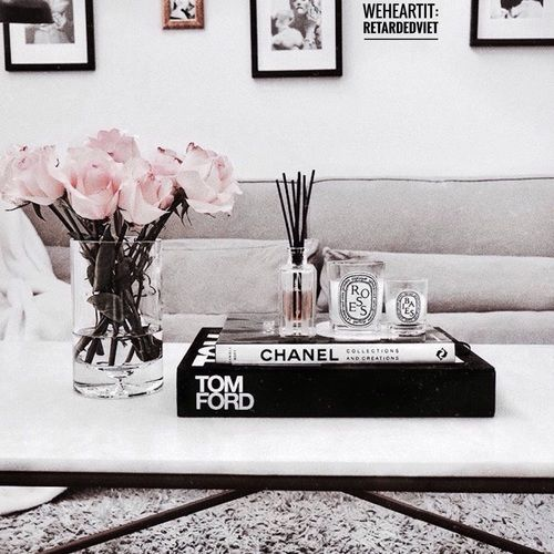 Flowers Couch And Interior Image Table Decor Living Room Coffee Table Books Decor Coffe Table Decor