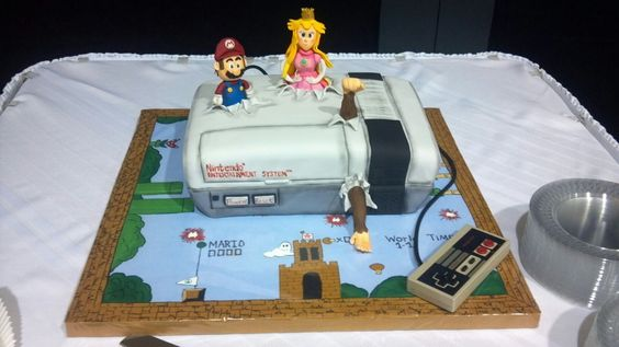 Mario...on a wedding cake