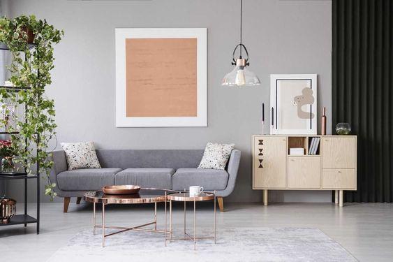 Changer De Canape Salon Gris Moderne Commode En Bois Table
