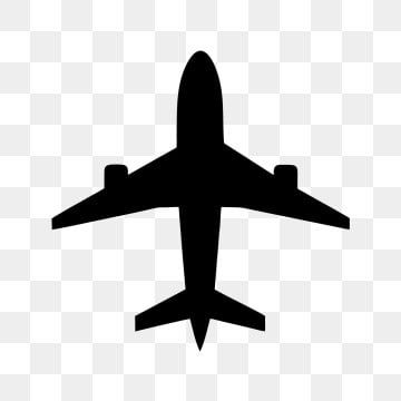 outline transparent airplane clipart
