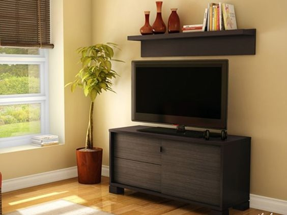 Agora TV Stand with Wall Shelf - Home.Woot