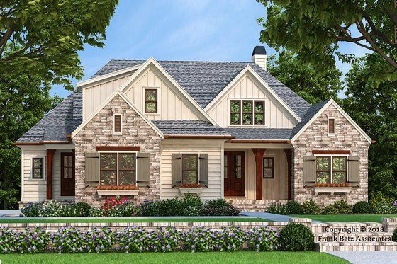Country Style House Plan 3 Beds 2 5 Baths 2073 Sq Ft Plan 927 986 In 2020 Country Style House Plans Craftsman House Plans House Plans