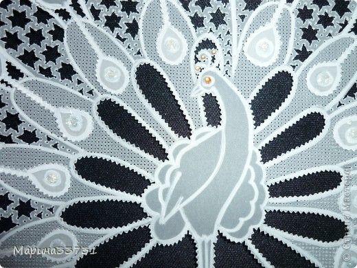 Картина, панно Пергамано: Павлин пергамано Бумага, Бусинки. Фото 2: