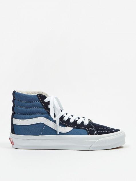 UA OG SK8 Hi LX Leather Trimmed Canvas High Top Sneakers