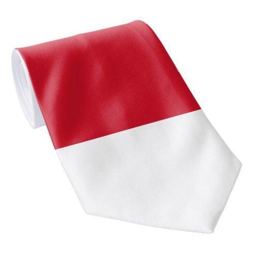 Indonesia Monaco Flag Tie Zazzle Com In 2020 Flag Monaco Gifts For Dad