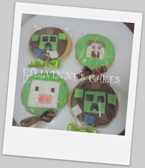 Etelvinne's Cakes: Bolachas Minecraft-Cookies