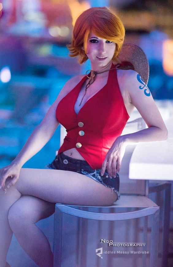 Nami (One Piece) Cosplay by Riddle