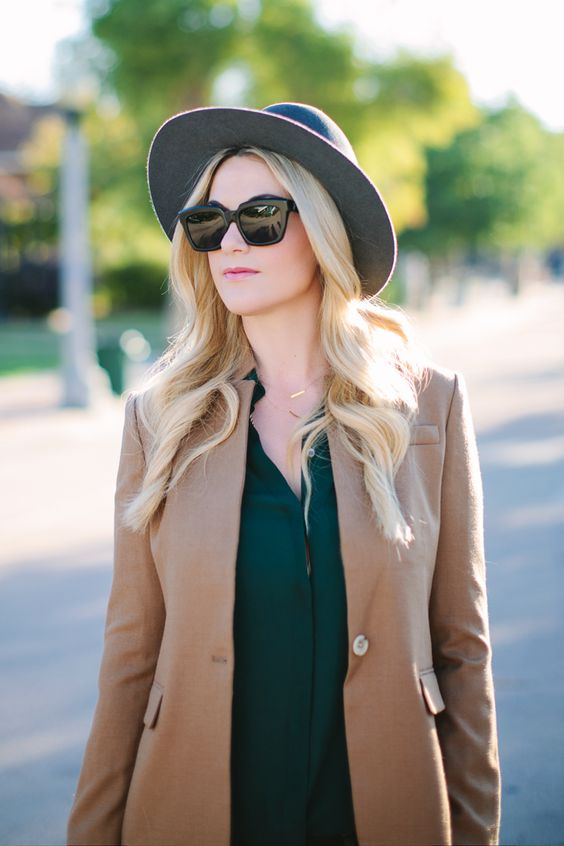 Camel Blazer + 3 Things You Don't Know About Me - Dash of Darling