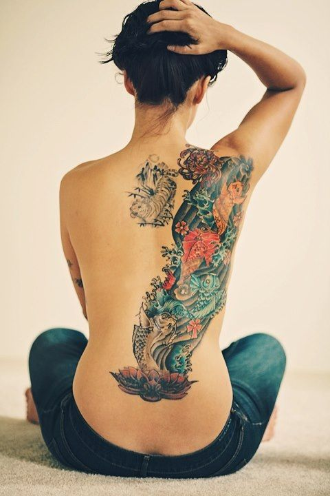 4 koi fish in dedication to my family japanese culture for Koi fish family