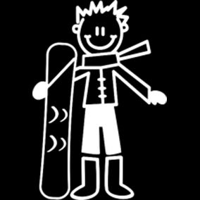 Jongen met snowboard