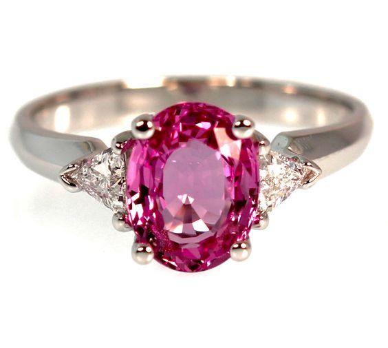 2 Carat Pink Sapphire Engagement Ring