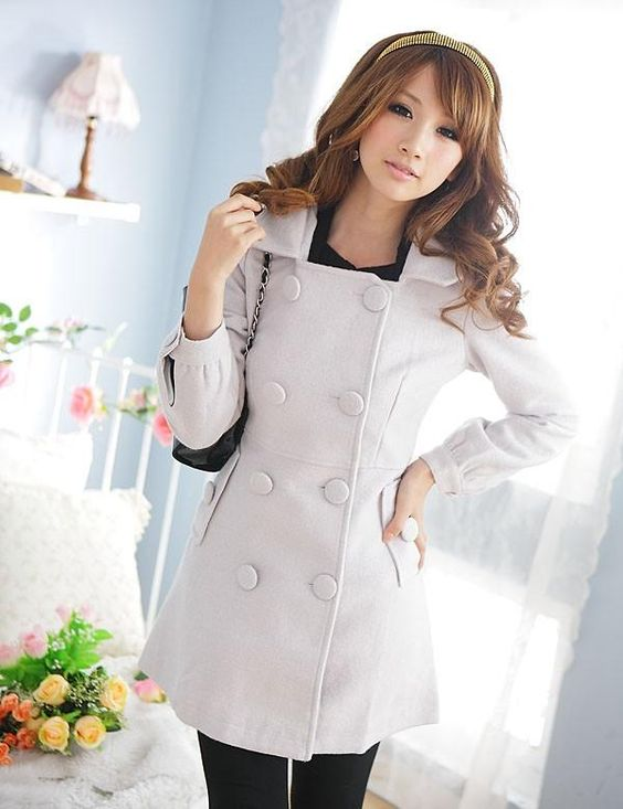 - Super popular Hooded Long Jacket lapel-80%wool-$27.70