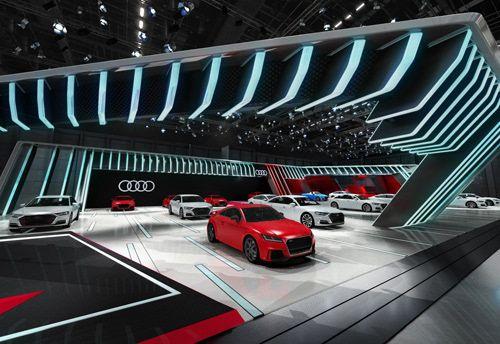 Audi Motor Show Kit Proposal On Behance Concept Design Booth Design Garage Design