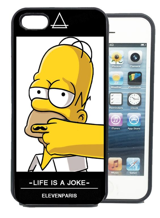 iPhone phone cases for iphone 4 ebay : Coque iPhone et Samsung Homer Simpson Eleven Paris Swag Moustache Life ...