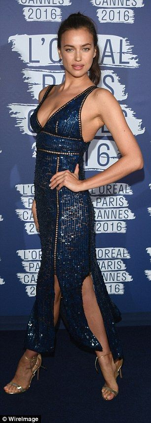 Irina Shayk shows off her extremely perky derrière at L'Oreal bash in Cannes | Daily Mail Online