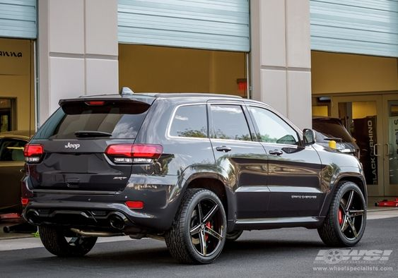 """2013 Jeep Grand Cherokee SRT-8 with 22"""" Lexani R-4 (Four) in Black Milled (Concave Series) wheels 