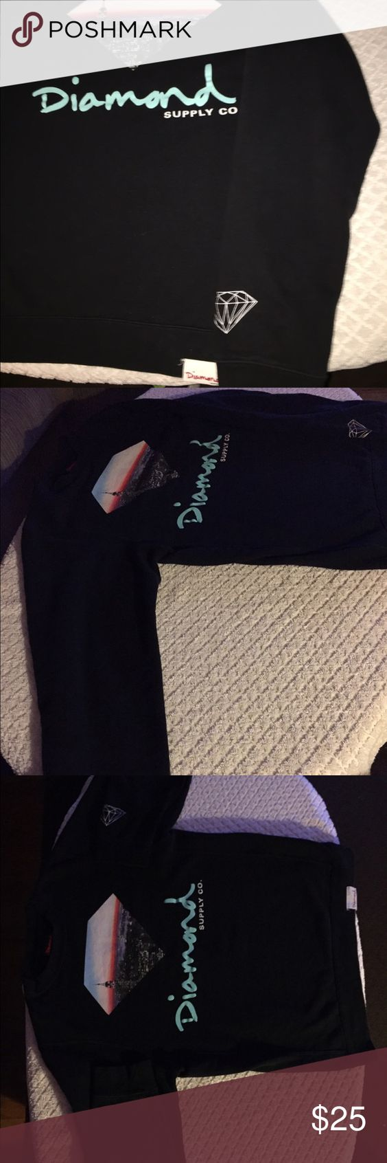 Men's Diamond Supply Co. Crewneck Sweatshirt Bought matching ones for me and my fiancé. But it is too small for him. Paid $74 for mine and $70 for his. Trying to get it off my hands. Size small to medium Diamond Supply Co. Sweaters Crew & Scoop Necks
