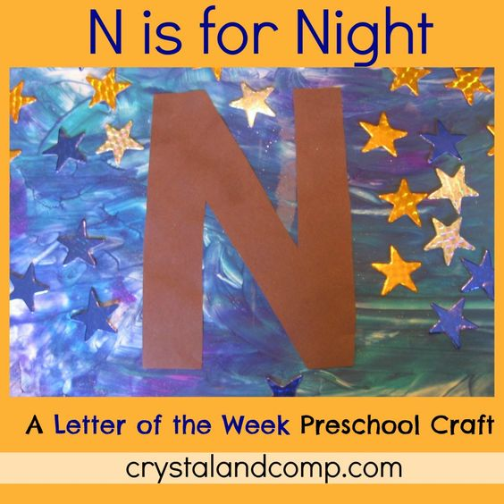 N is for Night: A Letter of the Week Preschool Craft   Alphabet ...