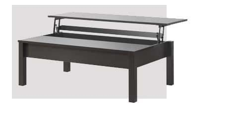 A Trulstorp Coffee Table With The Lift Top Open Square Coffee