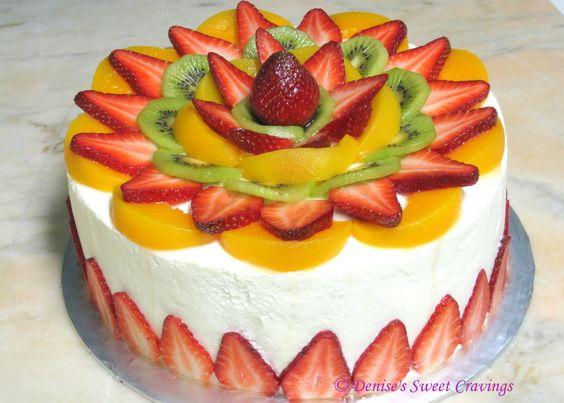 pastel de cumpleaños de frutas