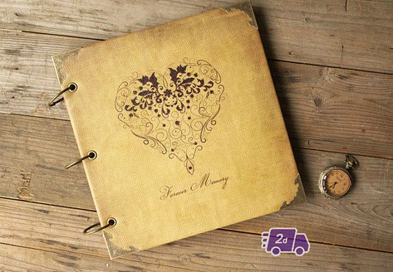 Forever Memory  PU Leather Scrapbook DIY Photo by LisandreCrafts