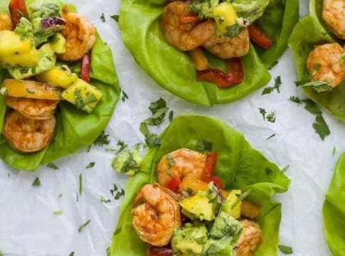 Shrimp Tacos With Mango Avocado Salsa Breakfast Smoothie Bowl Recipes Avocado Salsa Mango Avocado Salsa