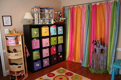 Pink and Green Mama: Kid-Friendly Spaces and Toy Storage Solutions In Our Home