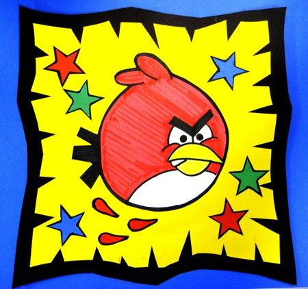 Angry Birds ...would be fun art lesson