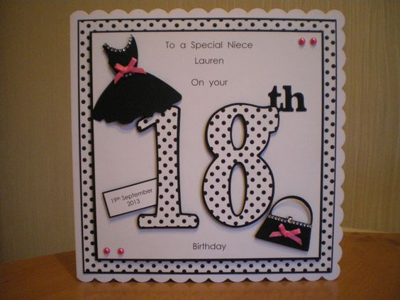 18th Birthday Cards For Girls ~ Handmade th birthday card scrapbooking pinterest birthdays and cards