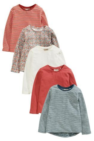 Buy Multi Long Sleeve T-Shirts Five Pack (3mths-6yrs) online today at Next…