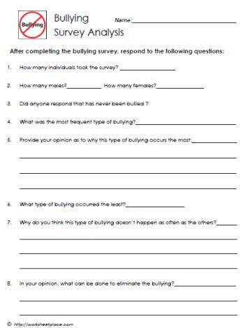 Printables Bullying Worksheets For Middle School bullying and worksheets on pinterest survey analysis tons of too