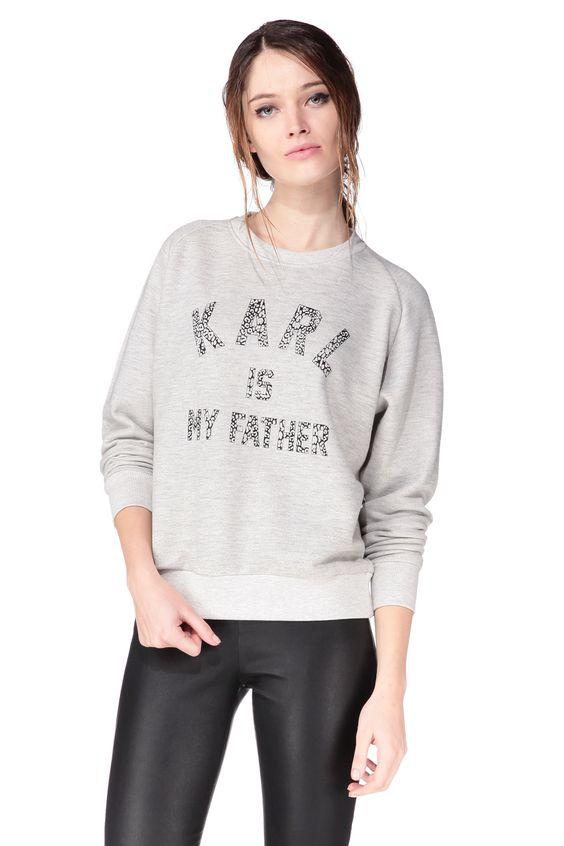 Sweat-shirt pour femme – Eleven Paris «Karl Is My Father Sweat»