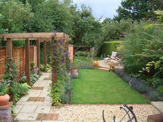 Worthy Long Narrow Garden Designs 58 About Remodel Simple