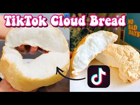 How To Make Tiktok Cloud Bread 3 Ingredient Recipe Tiktok Cloud Bread Recipe Paola Espinoza Youtube In 2020 Cloud Bread 3 Ingredient Recipes Bread