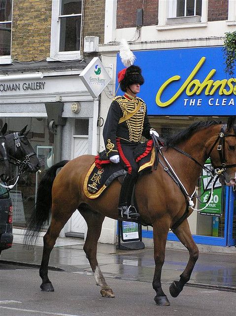 An officer of The King's Troop Royal Horse Artillery