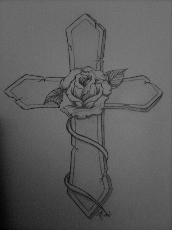rubans tatouages de croix and tatouages old school on