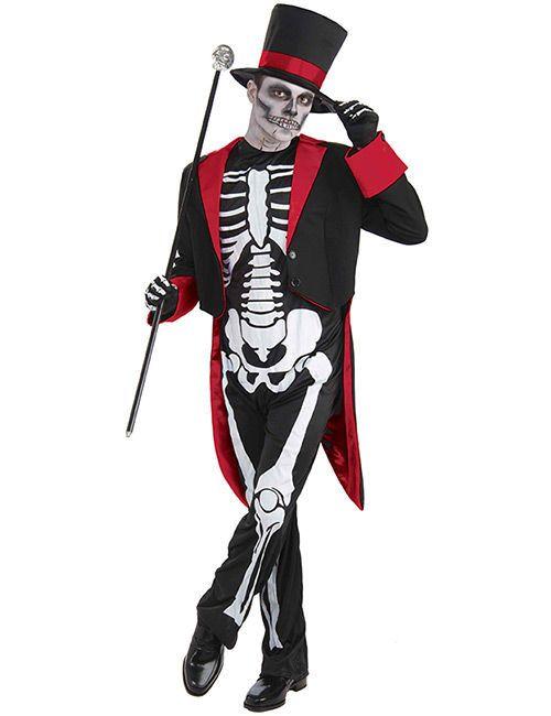 Skelett im Anzug Halloween-Kostüm schwarz. Aus der Kategorie Halloween Kostüme / Halloween Kostüme Herren. Ob Halloween-Party oder Tag der Toten: Mit diesem Skelett-Kostüm für Herren kommt der Tod mit Stil!