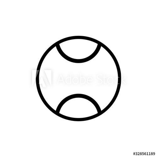 Tennis Ball Icon Vector Template Ad Sponsored Ball Tennis Icon Template Vector In 2020 Graphic Illustration Tennis Ball Icon