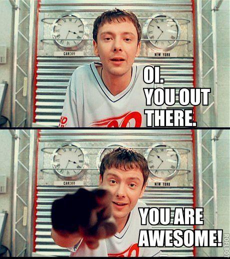"I love how he says things like ""oi"" and ""mate"". So British like he is"